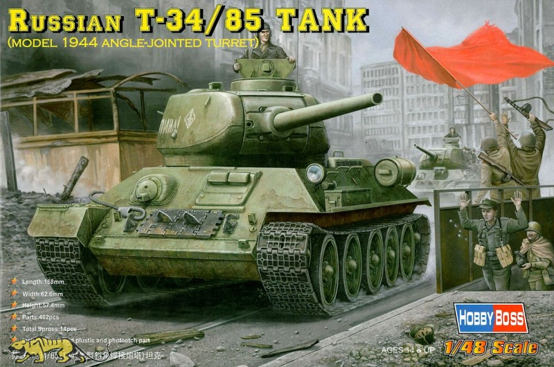 Russian T-34/85 Tank - Model 1944 Angle-joint Turret - 1/48