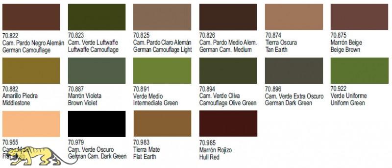 Green Farben panzer aces komplettset im koffer 64 farben zusatzprodukte