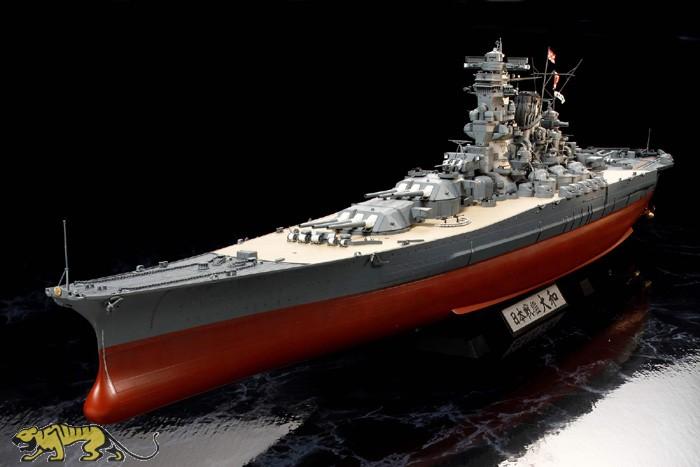 Kartonmodell Exklusivmodell Schlachtschiff Yamato 1:250 1:250 JSC