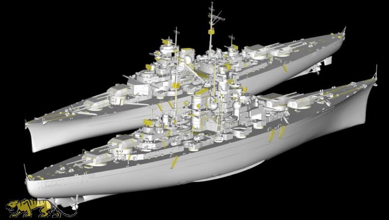 Entfernungsmesser Schlachtschiff : Deutsches schlachtschiff bismarck trumpeter tru