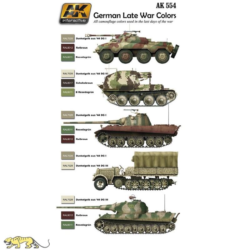 Wehrmacht Farben.1945 Farbset Wehrmacht Späte Fahrzeuge 6 Acryl Farben