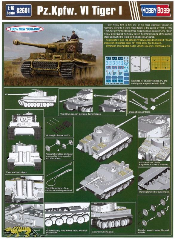 Panzerkampfwagen Tiger Ausf  E - Sd Kfz  181 - Mid Production - 1/16