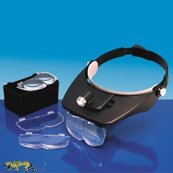 Kopfbandlupe Mit Beleuchtung Und 4 Linsen