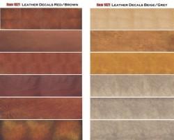 Leder - Decals / Abziebilder -  Beige und Braun