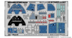 Photo Etched Parts - Interior - for Skyraider A-1H Navy - Zoukei Mura (SWS03) - 1/32