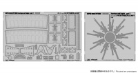 Photo Etched Parts - Fuselage / Engine - for Skyraider A-1H Navy - Zoukei Mura (SWS03) - 1/32