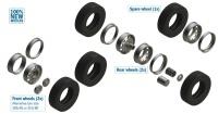 European tractors tyres and rims - Europäische LKW Reifen und Felgen - 1/24