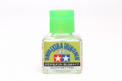 Tamiya Poly / Plastic Cement - EXTRA thin - Quick Setting - 40 ml