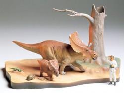 Chasmosaurus Diorama Set