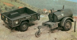 US 250 Gal. Tank Trailer and M101 Cargo Trailer - 1/35