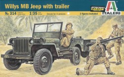 Willys Jeep MB with Trailer - 1/35