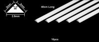 Plastikprofil - Dreieck - 2,0 x 2,0 x 2,8mm - 40cm - 10 Stück