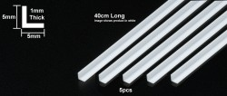 Plastic Beams - Clear - L Profile - 5mm - 40cm - 5pcs