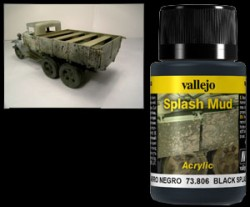 Weathering Effects 73806 - Black Splash Mud / Schwarzer Schlamm