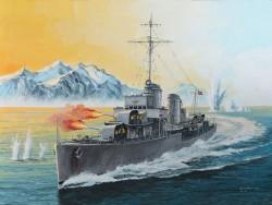 Deutsche Kriegsmarine - Zerstörer - Typ 1936 - 1:350