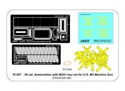 .50 Cal Munition und M2A1 Munitionskiste für US M2 Machine Gun