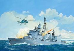 Deutsche Bundesmarine Fregatte F 122 Klasse - 1:300