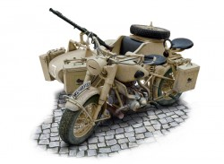 German Military Motorcycle with Sidecar - BMW R75 - 1/9