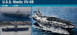 USS Nimitz - CV-68 - 1:720