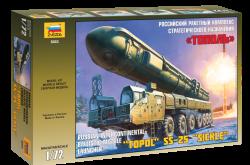 Topol SS-25 Sickle - Russische Fahrzeuggebundene Interkontinentalrakete - 1:72