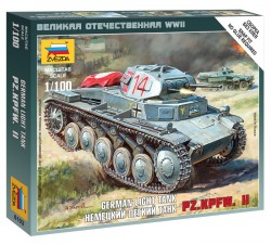 Panzerkampfwagen II - German Light Tank - 1/100