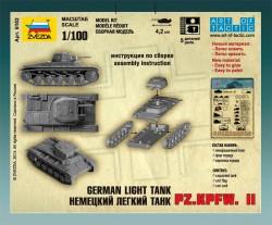Panzerkampfwagen II - Deutscher leichter Panzer - 1:100