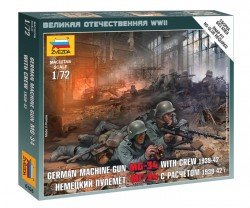 MG-34 with Crew - German Machine Gun - 1939 - 1942 - 1/72