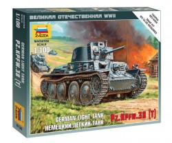 Panzerkampfwagen 38(t) - German light Tank - 1/100