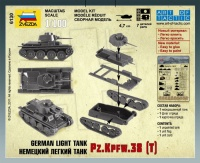Panzerkampfwagen 38(t) - Deutscher leichter Panzer - 1:100