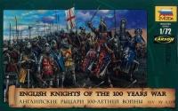 Englische Ritter 100jähriger Krieg - 14.-15. Jahrhundert- 1:72