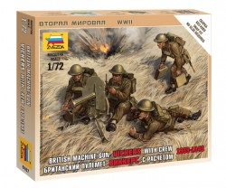 British Machine Gun Vickers With Crew - 1939-1943 - 1/72