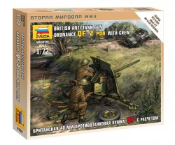British Anti-Tank Gun  Ordnance QF 2 PDR With Crew - 1/72