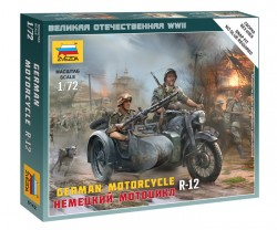 German Motorcycle R-12 - 1/72