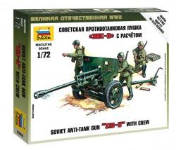 Sowjetische PAK ZIS-3 mit Soldaten - 1:72