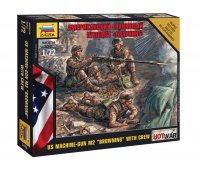 US Browning Machine-Gun With Crew - 1/72