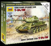T-34/85 - Sowjetischer mittelschwerer Kampfpanzer - 1:100