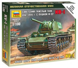 KV-1 - Soviet Heavy Tank - Model. 1941 with F-32 Gun - 1/100
