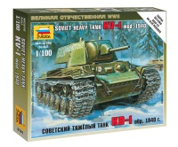 KV-1 - Soviet Heavy Tank - Model. 1940 with L-11 Gun - 1/100