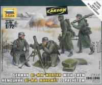Deutscher Mörser 81mm mit Soldaten - 1:72