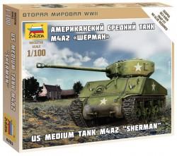 U.S. Panzer M4A2 Sherman - 1:100