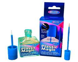 Plastic Magic Klebstoff mit Pinsel 40 ml DELUXE