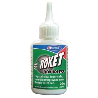 Roket Odourless - Crystal clear non blooming cyano glue