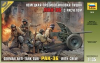 German Anti-Tank-Gun PAK 36 with Crew - 1/35
