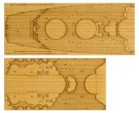 Wooden Deck Sheet for 1/350 IJN Yamato - Tamiya 78025 - 1/350