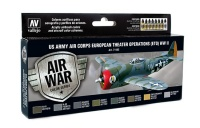Model Air Set US Army Air Corps - European Theater Operations - WWII