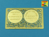 Wehrmacht Verschlüsse für 20L Benzinkanister und Beschriftungen für 200L Benzinfässer