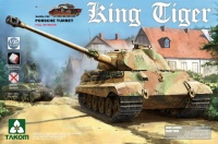 German King Tiger - Porsche Turret - with Interior - 1/35