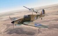 Britisches Kampfflugzeug Hurricane Mk.I Trop
