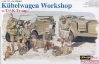 Kübelwagen Workshop with DAK Troops - 1/35