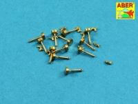 Flügelschrauben mit Gewindestangen - 12 Stück